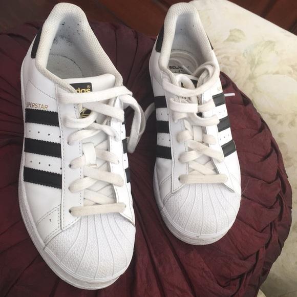 Adidas La Marque Aux 3 Bandes sz 4.5 white